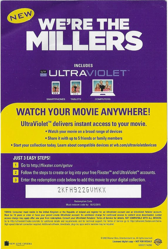 Free ultraviolet code for the movie we re the millers free uv voucher