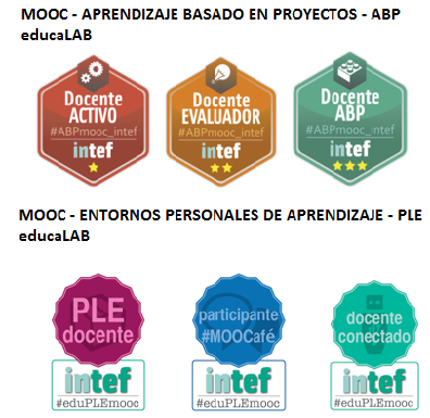 Emblemas MOOC educaLAB