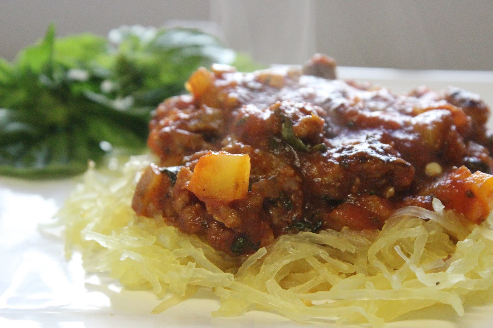 Pure Pursuit: Spaghetti Squash with Meat Sauce