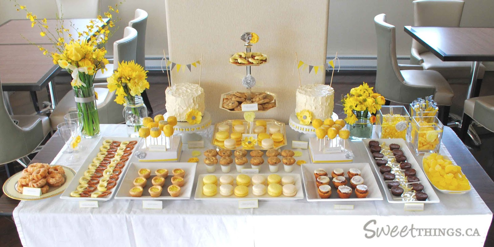 Yellow and Grey Baby Shower Sweet Table 1600 x 802