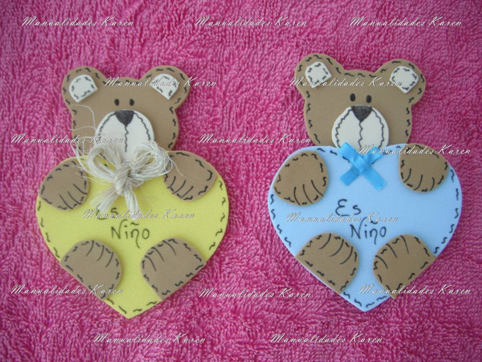 Distintivos Para Baby Shower Osito