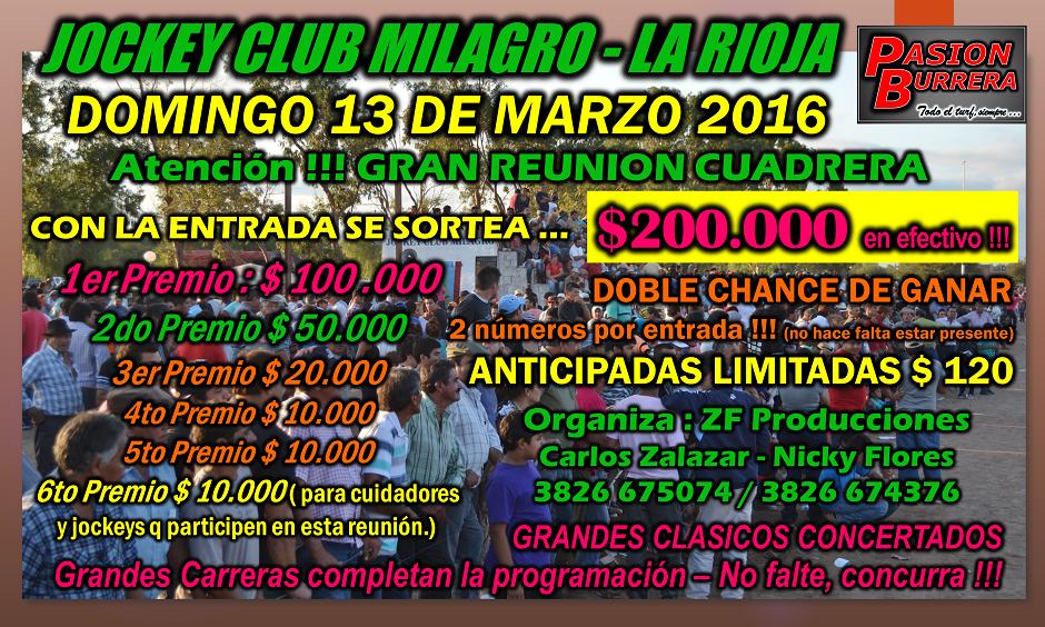 MILAGRO - 13 DE MARZO 2016