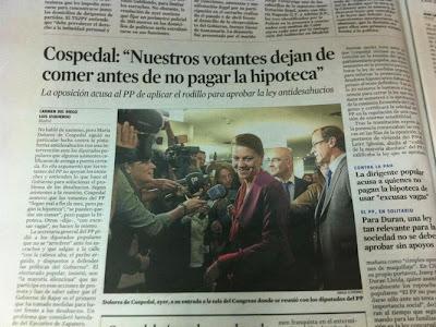 La Vanguardia publica unas polémicas declaraciones de María Dolores de Cospedal