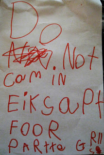 Do Not com in EiKsaPt FOOR PARtte GRlls