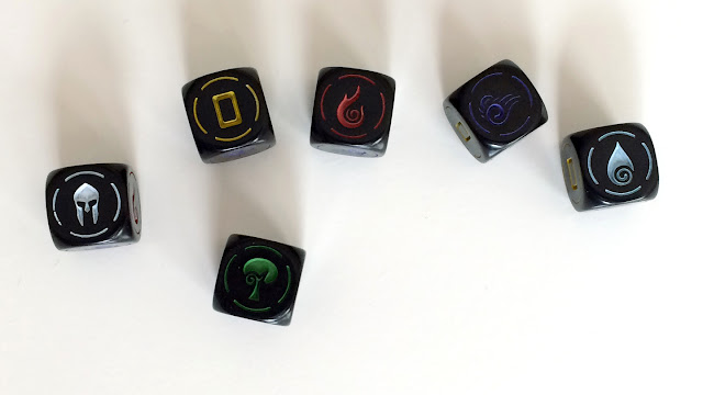 Heroes board game dice