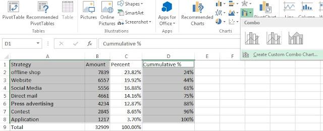 Excel Pareto