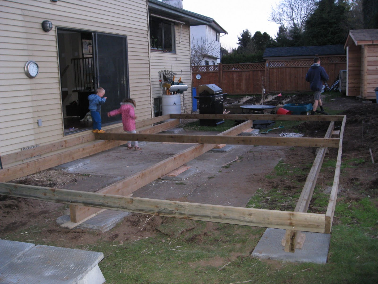 Morning glory go big or go home for How much to build a floating deck
