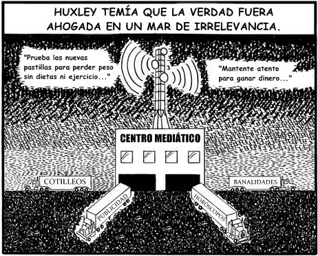 huxley orwell postman Neil postman--critic, writer, educator, and communications theorist--is chairman  of  the educated, huxley and orwell did not prophesy the same thing orwell.