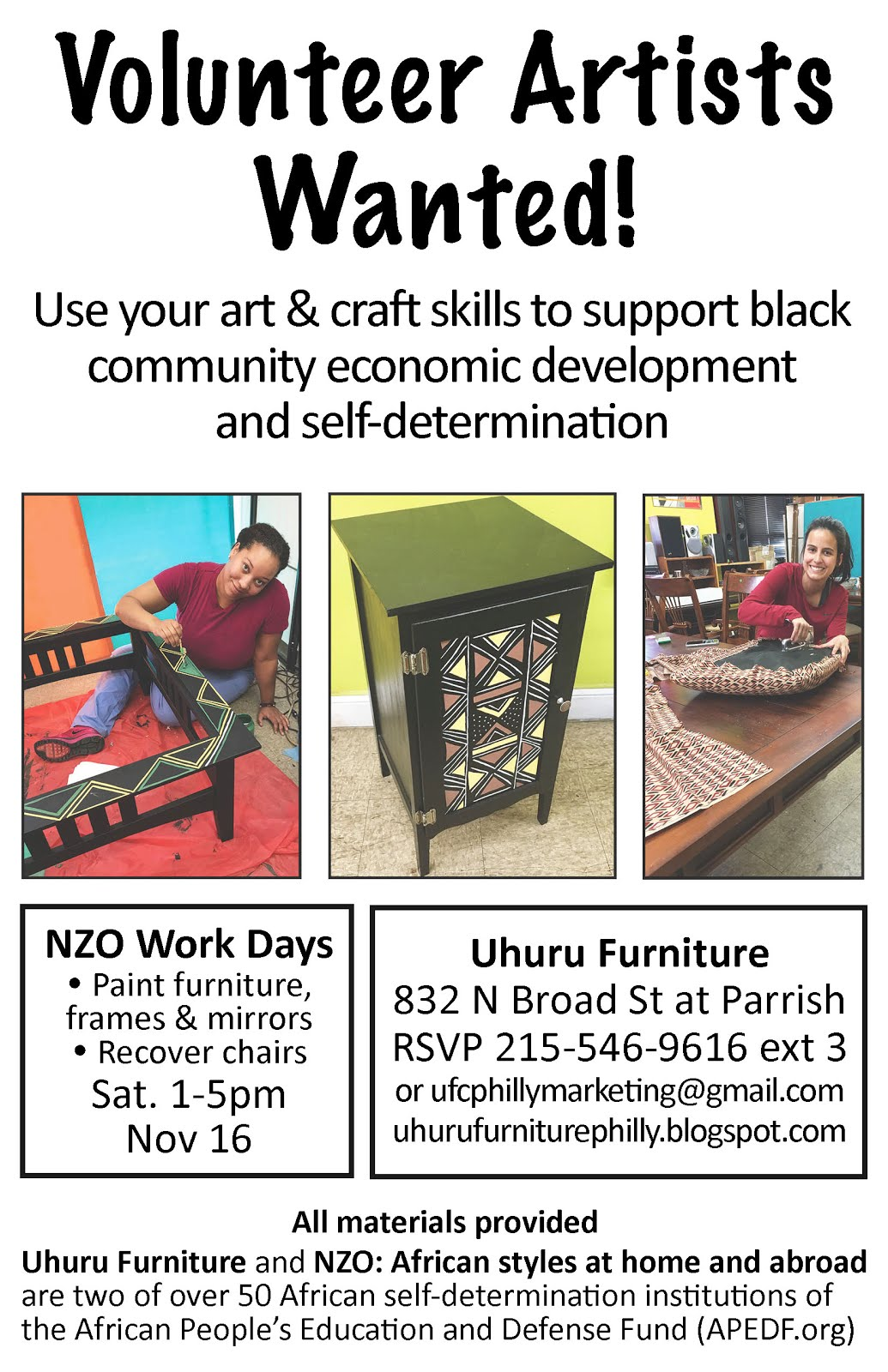 NZO Work Day this Sat. 11/16!