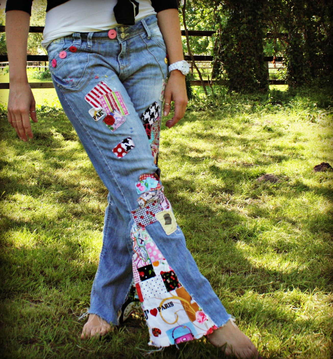 Hungryhippie Sews Altering Jeans Tutorial