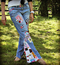 How to DIY Hippie Bell Bottom Jeans