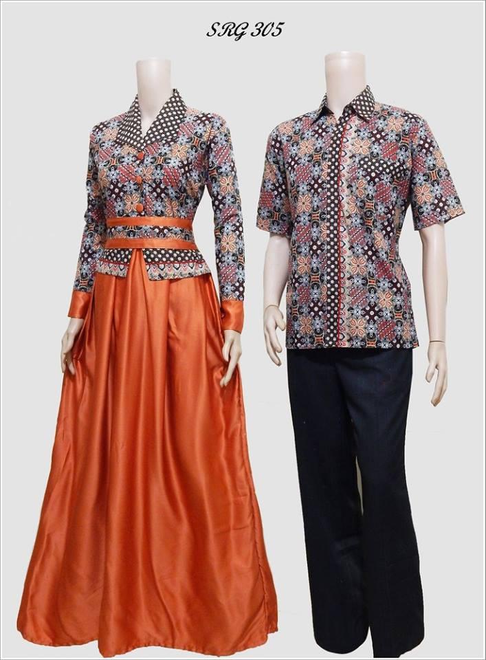 Batik Sarimbit Gamis Modern Srg 305