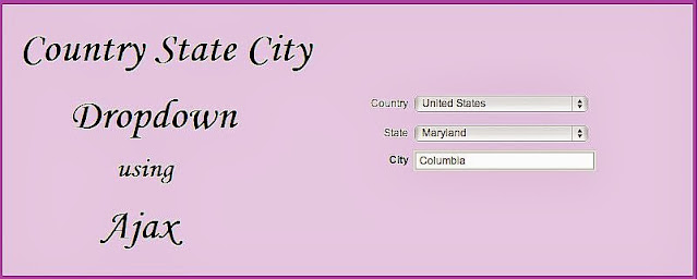 Country State City Dropdown