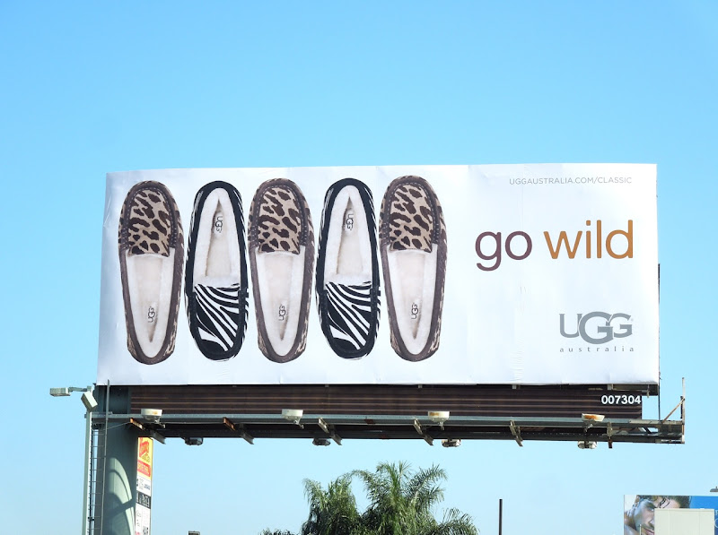 UGG Go Wild animal print slipper billboard