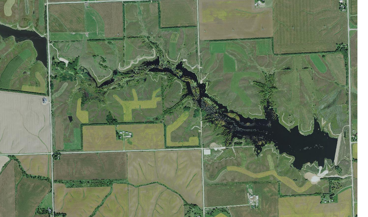 The lost grove lake mapping project for Iowa dnr fishing report
