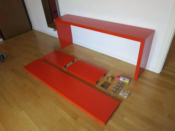 Malmerized console ikea hackers ikea hackers for Ikea malm console table
