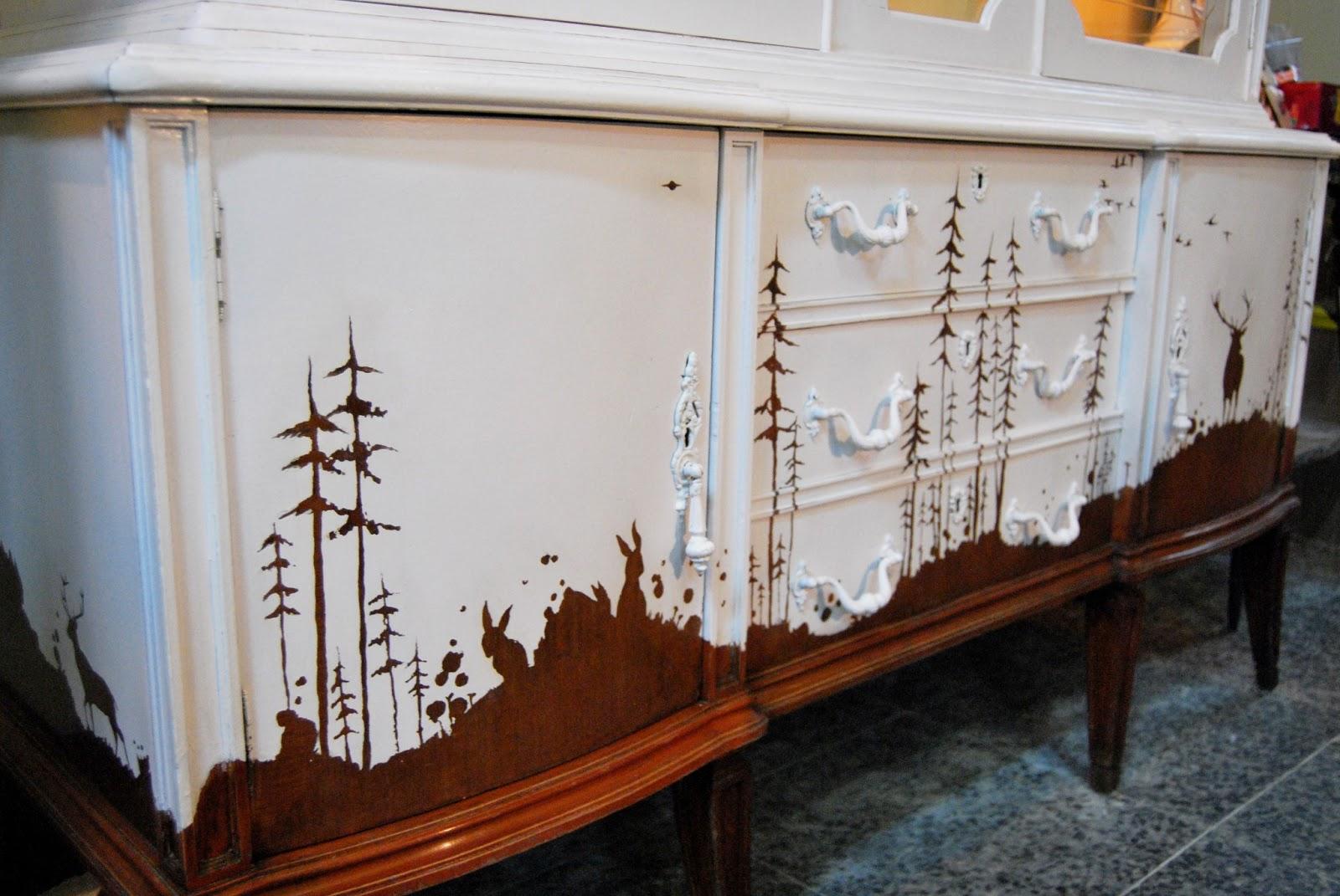 Muebles personalizados buc licos la tapicera - Mueble pintado a mano ...