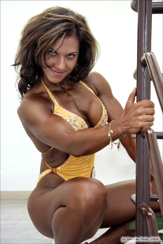 Fitness figure competitors women