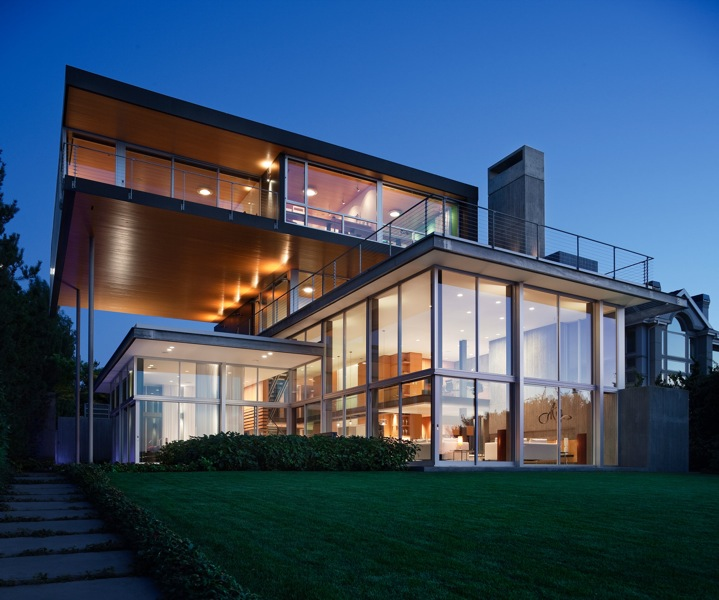 architecture modern houses. Picture Of Modern Unusual House As Seen At Sunset From The Backyard Architecture Houses L