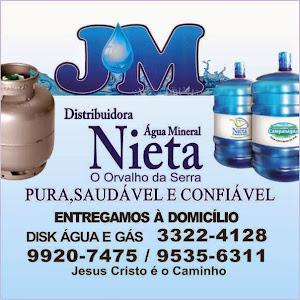 JM- DISTRIBUIDORA DE ÁGUA MINERAL E GÁS ENTREGAMOS Á DOMICILIO FONE : 3322-4128/ 95356311 PARNAÍBA