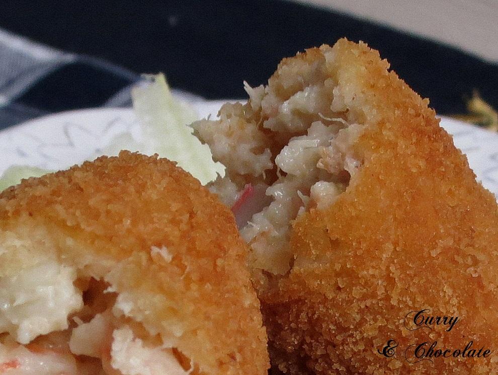 Tuna, salmon, shrimp and crab croquettes