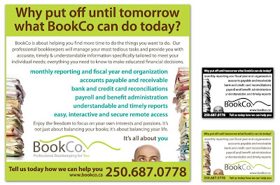 bookco print newspaper magazine ad design