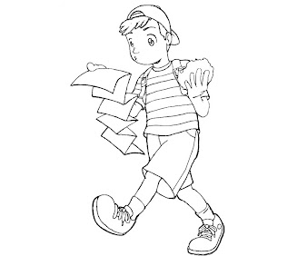 #7 Ness Coloring Page