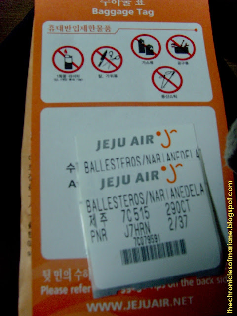 jeju air baggage
