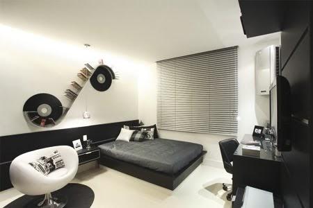 Dormitorio blanco y negro para jovencito quartodorapaz jpg for Diseno de dormitorio blanco