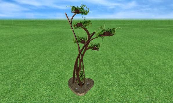 escultura de metal de diseño artistico para un jardin de lujo acabado hierro oxidado foto 1