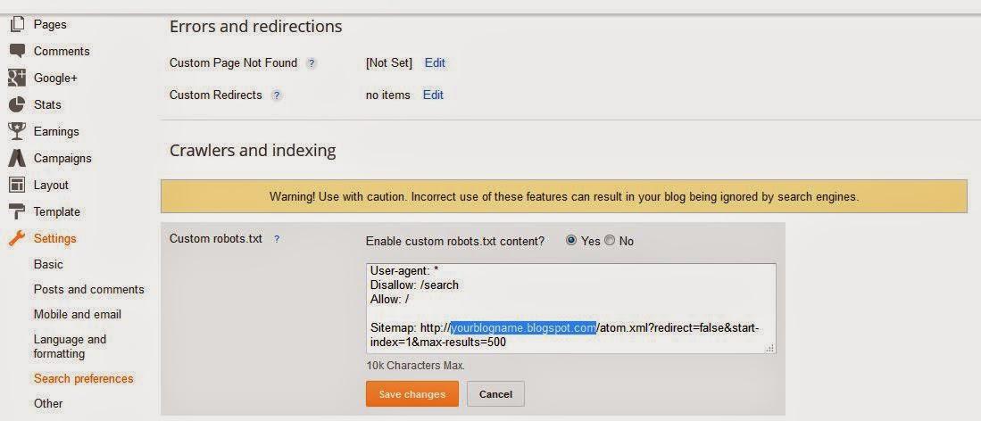 bagaimana buat sitemap blogspot