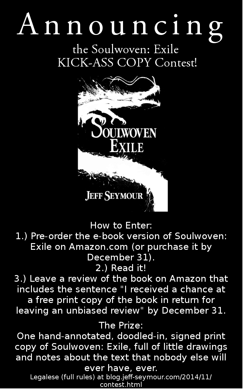 The Soulwoven: Exile KICK-ASS COPY Contest!
