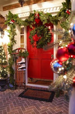 fachada de navidad