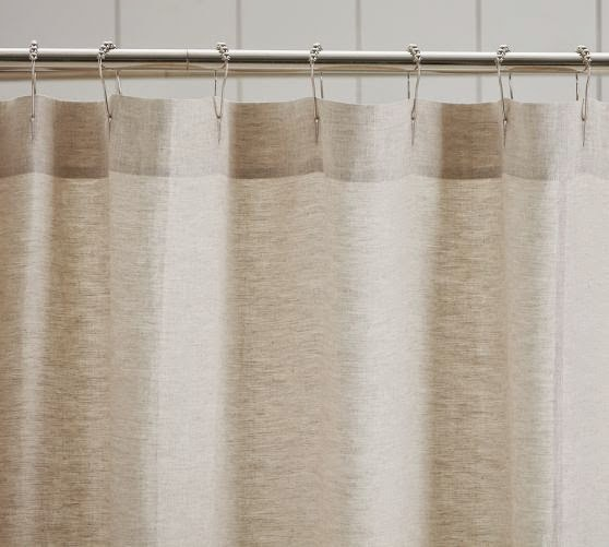Thrifty 31 blog diy drop cloth shower curtain