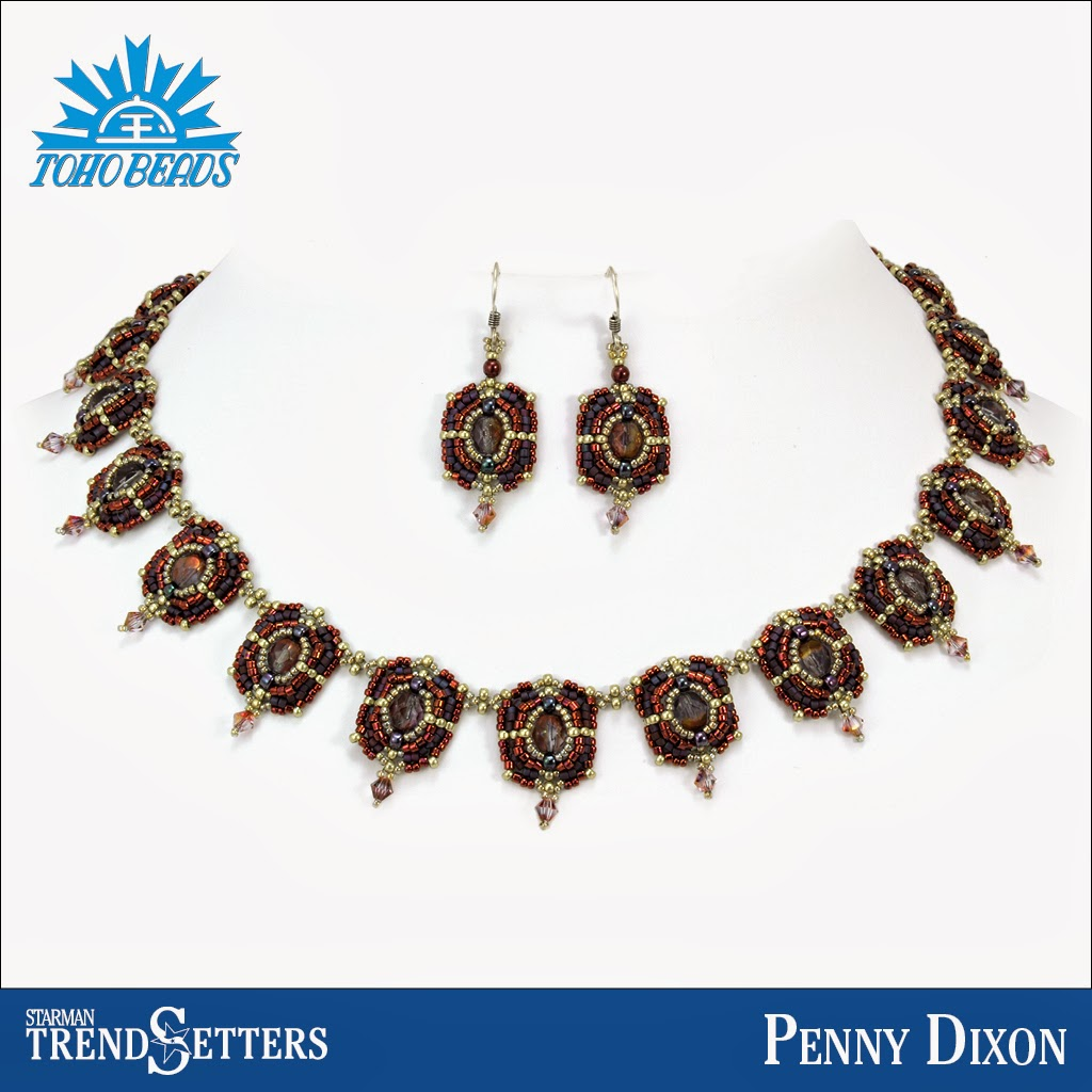 TOHO beaded necklace and earings by Starman TrendSetter Penny Dixon