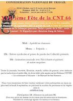 17a Festa de la CNT 66. El diumenge 10 de setembre  partir de les 12 del migdia.