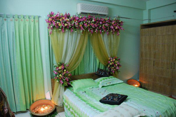 Dulha dulhan latest ins outs in weddings for Asian wedding bed decoration ideas