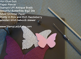 Supplies to make the Butterfly Flower Picks