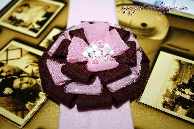 повязка с текстильным цветком