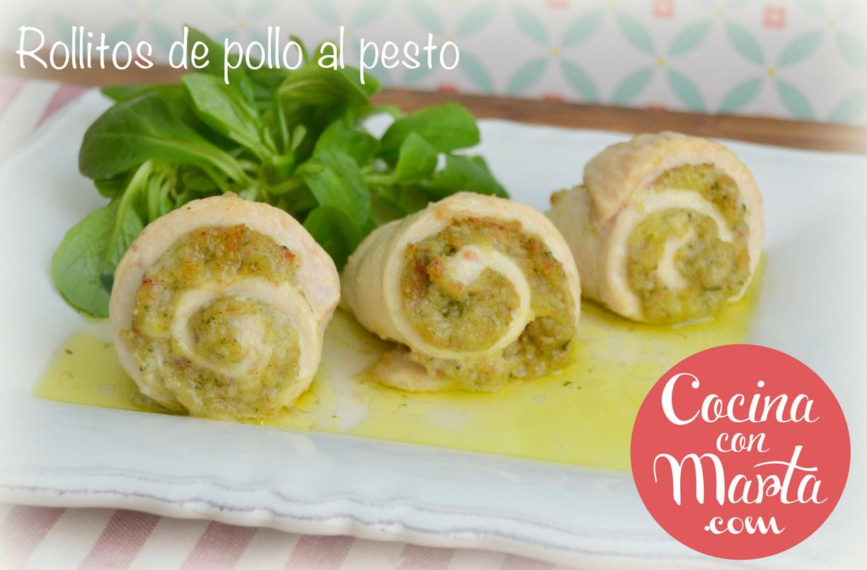 Receta Olla GM, rollitos de pollo al pesto, casera, rápida, fácil, sencilla, ligera, cocina con marta