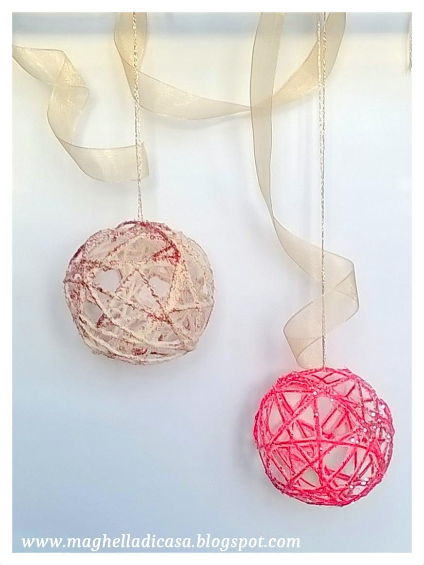 Creare palline di natale con la lana