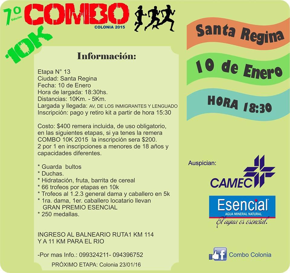 Run uruguay domingo 10 01 2016 13ra etapa combo colonia for Inscripciones jardin 2016 uruguay