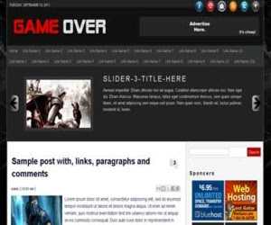 Game Over Blogger Template