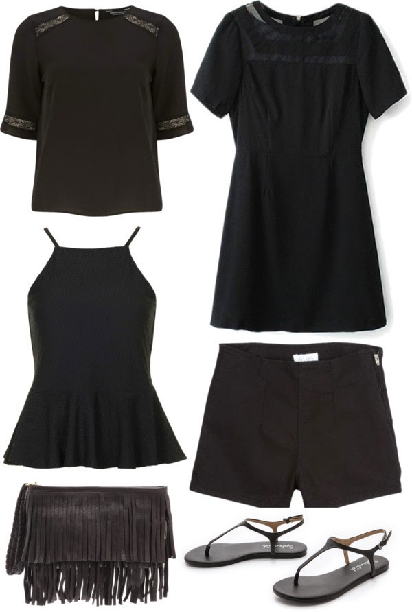 black clothing for summer