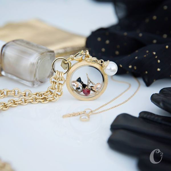 Evening in Paris Origami Owl Living Locket | Shop StoriedCharms.com to create your story today.