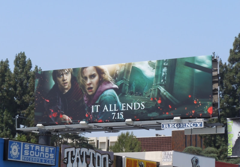 Harry Potter 8 Ron and Hermione bilboard