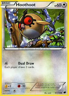 Hoothoot Plasma Freeze Pokemon Card