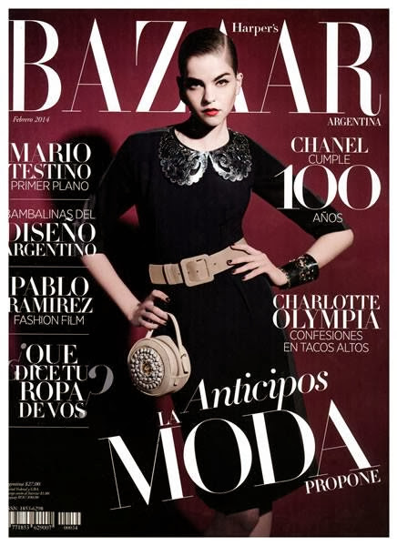 Valeriane le Moi Photos from Harper's Bazaar Argentina Magazine Cover Winter 2014 HQ Scans