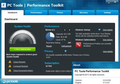 Download PC Tools Performance Toolkit