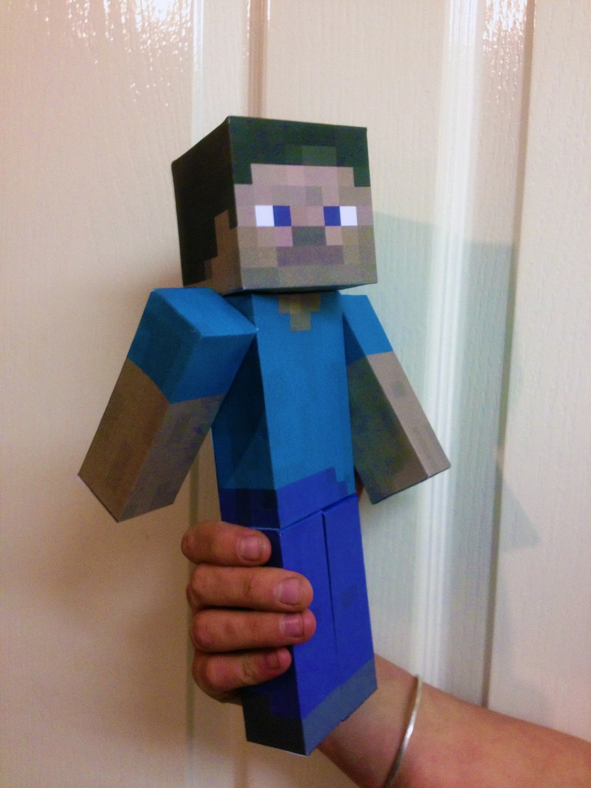 Minecraft Steve paper model